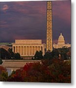 Washington Dc Iconic Landmarks Metal Print