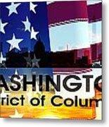 Washington Dc Patriotic Large Cityscape Metal Print