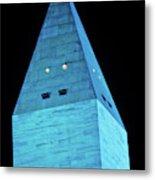 Washington Monument At Night Metal Print