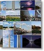Washington Monument Collage 2 Metal Print