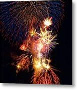 Washington Monument Fireworks 3 Metal Print by Stuart Litoff