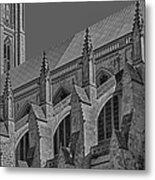 Washington National Cathedral  Bw Metal Print