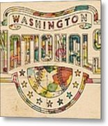 Washington Nationals Poster Art Metal Print