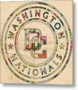 Washington Nationals Poster Vintage Metal Print