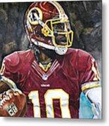 Washington Redskins' Robert Griffin IIi Metal Print by Michael  Pattison