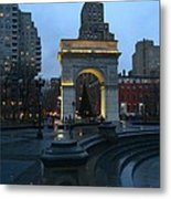 Washington Square In New York At Dusk Metal Print