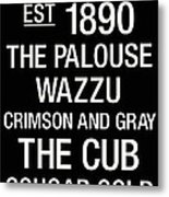 Washington State College Town Wall Art Metal Print by Replay Photos