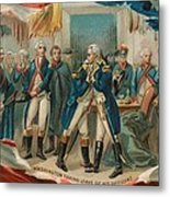 Washington Taking Leave Of His Officers Metal Print