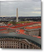 Washintgon Monument From The Tower Of The Old Post Office Tower Metal Print