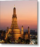 Wat Arun At Sunset - Bangkok Metal Print