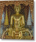 Wat Chai Monkol Phra Ubosot Buddha Images Dthcm0849 Metal Print