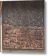 Wat Chai Monkol Phra Ubosot Diorama Of Village Life Dthcm0856 Metal Print