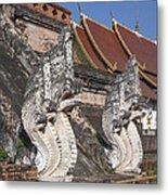 Wat Chedi Luang Phra Chedi Luang Five-headed Naga Dthcm0052 Metal Print