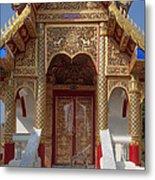 Wat Dok Eung Phra Ubosot Entrance Dthcm0353 Metal Print