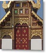 Wat Duang Dee Phra Ubosot Door  Dthcm0297 Metal Print