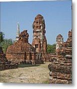 Wat Mahathat Prangs And Chedi Dtha0231 Metal Print