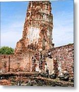 Wat Mahathat Temple In Ayutthaya Metal Print