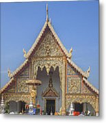 Wat Phra Singh Phra Wihan Luang Gable Dthcm0238 Metal Print