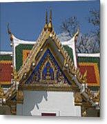 Wat Phrasri Mahathat Ubosot North Wing Gable Dthb1469 Metal Print
