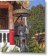 Wat Phuak Hong Phra Wihan Monk Figure Dthcm0579 Metal Print