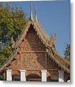 Wat Sri Don Chai Phra Ubosot Gable Dthcm0095 Metal Print