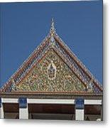 Wat Thewasunthon Preaching Hall Gable Dthb1423 Metal Print