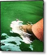 Watauga Lake Crystal Green Metal Print