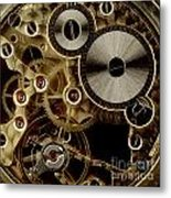 Watch Mechanism. Close-up Metal Print by Bernard Jaubert