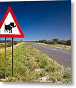 Watch Out For Warthogs Metal Print
