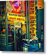 Watch Repair Shop - Keys Made Here Metal Print