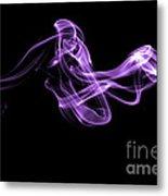 Watch The Flow - Purple Metal Print