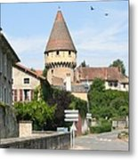 Watch Tower In Cluny Metal Print