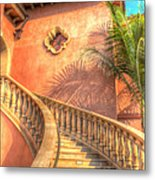 Watch Your Step And Welcome Metal Print
