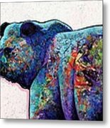 Watchful Eyes - Grizzly Bear Metal Print