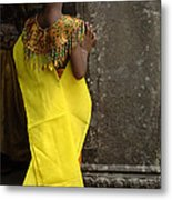 Watching In Cambodia Metal Print
