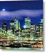 Watching Over New York Metal Print