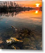 Watching Sunset Metal Print