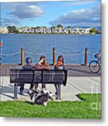 Watching The Bikes Go By At Congressman Leo Ryan's Memorial Park Metal Print