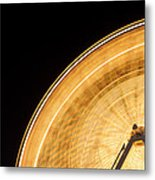 Watching The Wheel Go Round Metal Print