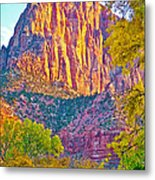 Watchman's Peak In Zion National Park-utah Metal Print