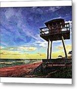 Watchtower On The Beach Metal Print