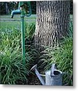 Water And Can Metal Print