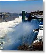 Water And Ice Metal Print