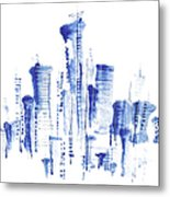 Water-and-ink Cityscape Metal Print