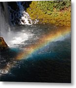 Water And Rainbow Metal Print