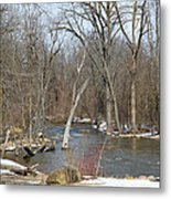 Water And Snow Metal Print