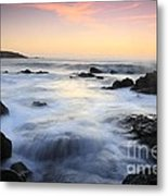 Water And The Sunset Metal Print