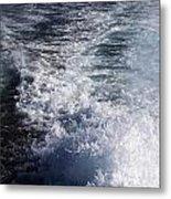 Water Behind A Ship Metal Print