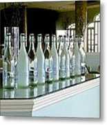 Water Bottles Metal Print