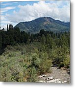Water-carved Base Rock And Mt Baldy Metal Print